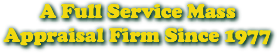 A Full Service Mass Appraisal Firm Since 1977